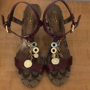 Coach shoes size 8.